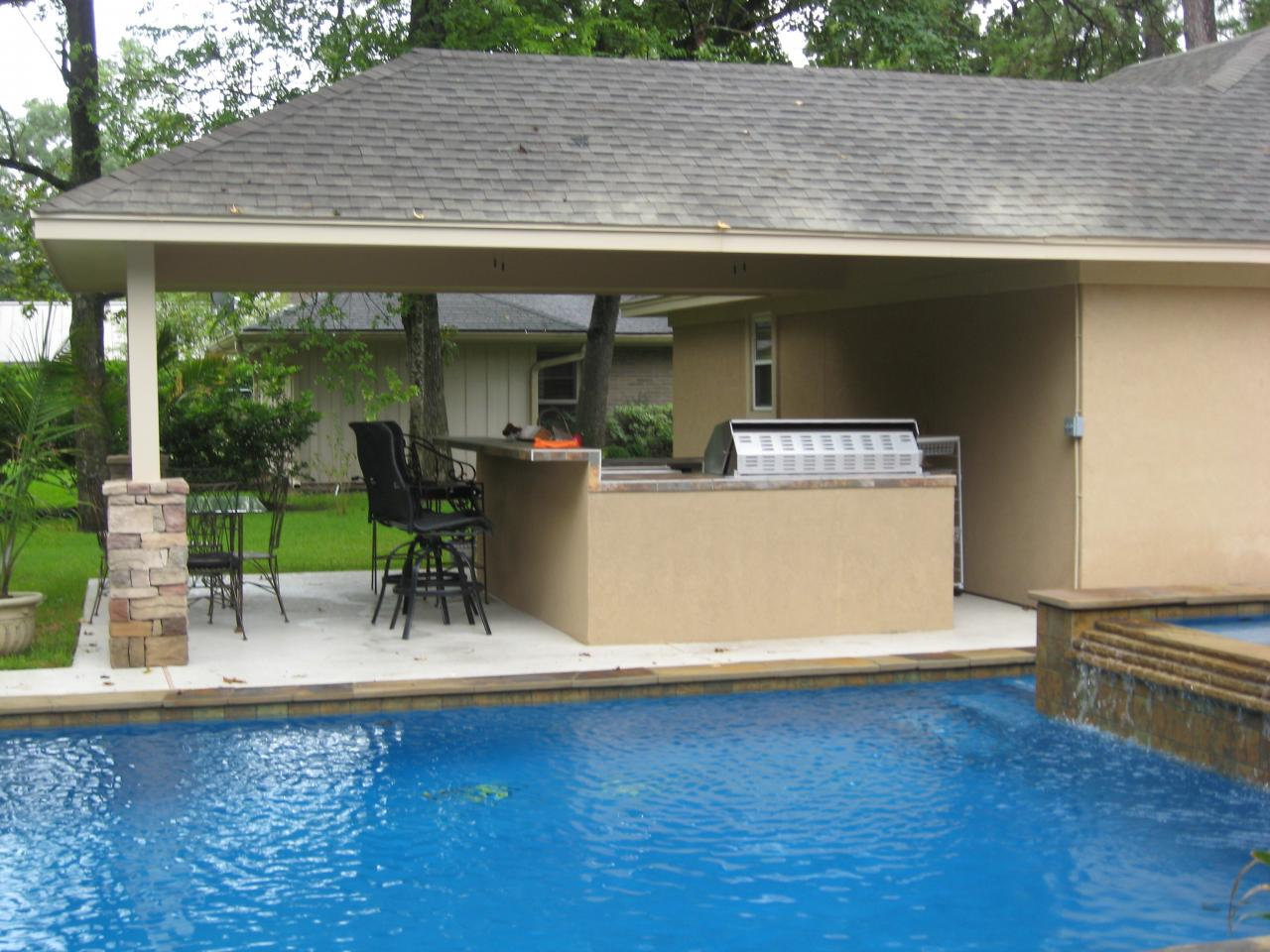 Perfect design patios kitchens and grills for Outdoor kitchen and patio