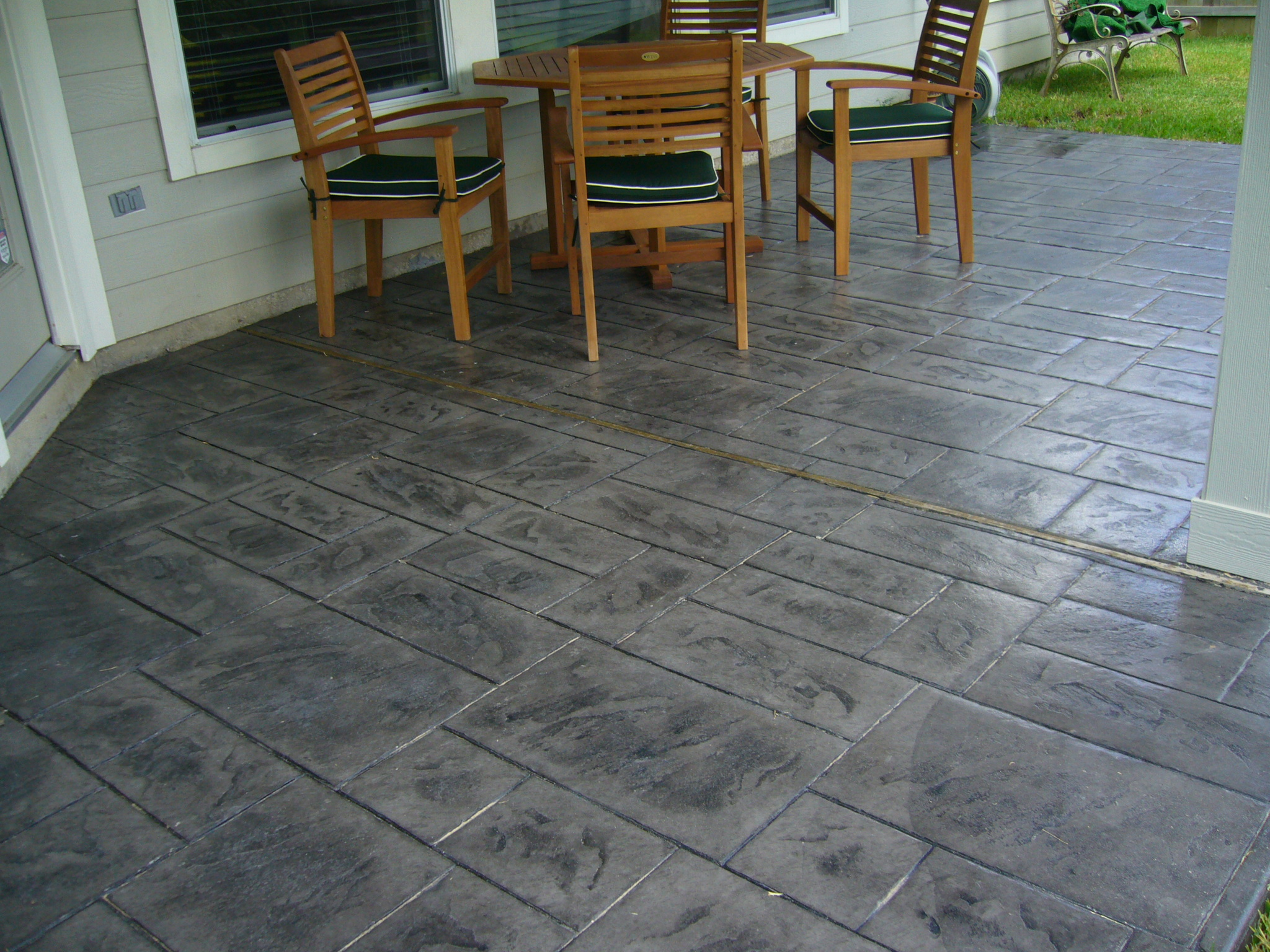 Stamped Concrete Design Ideas garage parking stamped stone stamped concrete ozark pattern concrete inc lowell Ideas Stamped Concrete Patio Design Sterling Hts Mi Concrete Patio