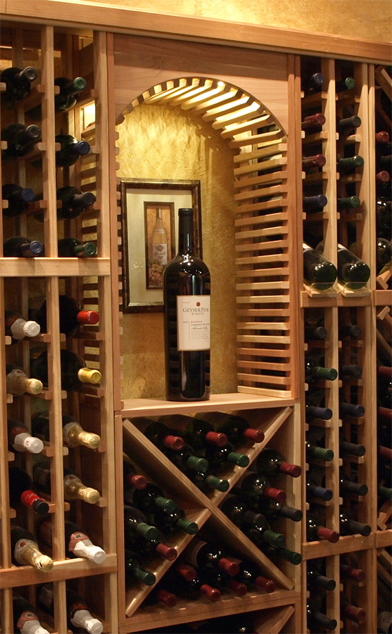 Perfect design patios wine closets for Turn closet into wine cellar