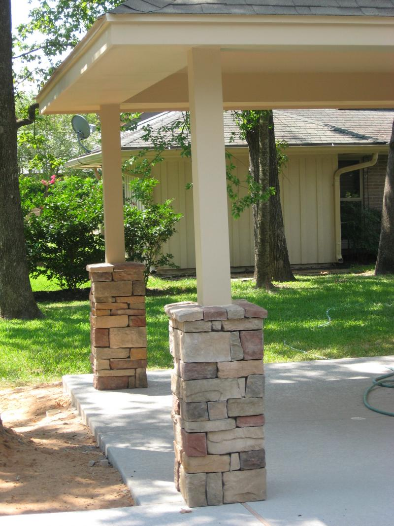 Stone Columns Design : Perfect design patios photo gallery